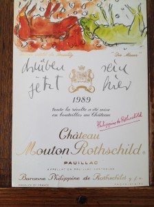 Mouton Rothschild 1989 Georg Baselitz