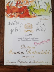 Mouton Rothschild 1989 Georg Baselitz