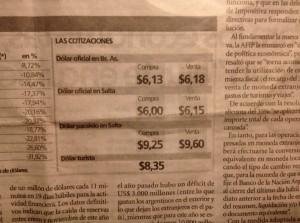 Argentijnse krantenkoersen
